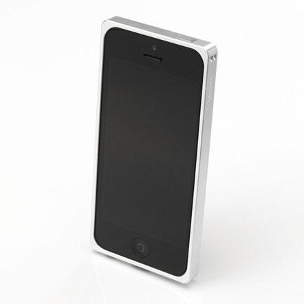 【iPhone SE/5s/5】GRAMAS メタルバンパー 512シリーズ(シルバー)