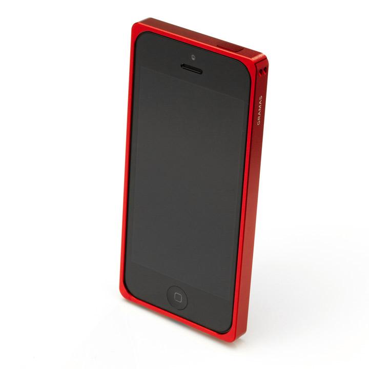 iPhone SE/5s/5 ケース 【iPhone SE/5s/5】GRAMAS メタルバンパー 512シリーズ(レッド)_0