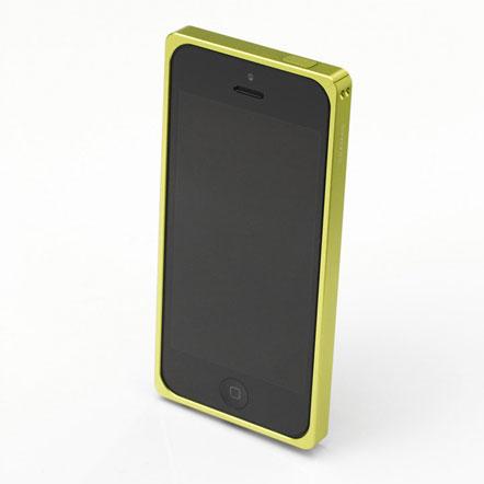 【iPhone SE/5s/5】GRAMAS メタルバンパー 512シリーズ(グリーン)