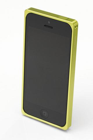 iPhone SE/5s/5 ケース 【iPhone SE/5s/5】GRAMAS メタルバンパー 512シリーズ(グリーン)