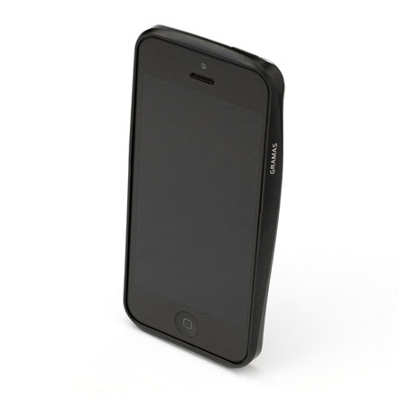 【iPhone SE/5s/5】GRAMAS メタルバンパー 522シリーズ(ブラック)