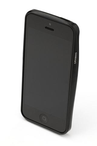 iPhone SE/5s/5 ケース 【iPhone SE/5s/5】GRAMAS メタルバンパー 522シリーズ(ブラック)