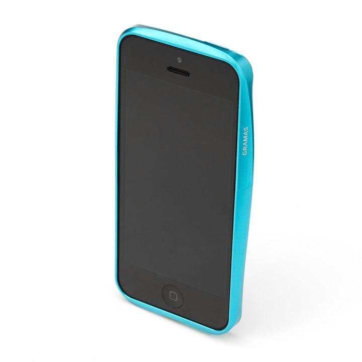 【iPhone SE/5s/5】GRAMAS メタルバンパー 522シリーズ(ブルー)