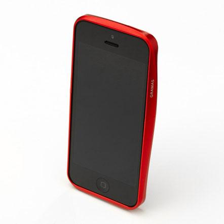 【iPhone SE/5s/5】GRAMAS メタルバンパー 522シリーズ(レッド)