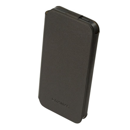 【iPhone SE/5s/5】GRAMAS レザー手帳型ケース 412シリーズ(ブラック)