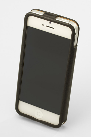 【iPhone SE/5s/5】GRAMAS レザーケース 422シリーズ(ブラック)