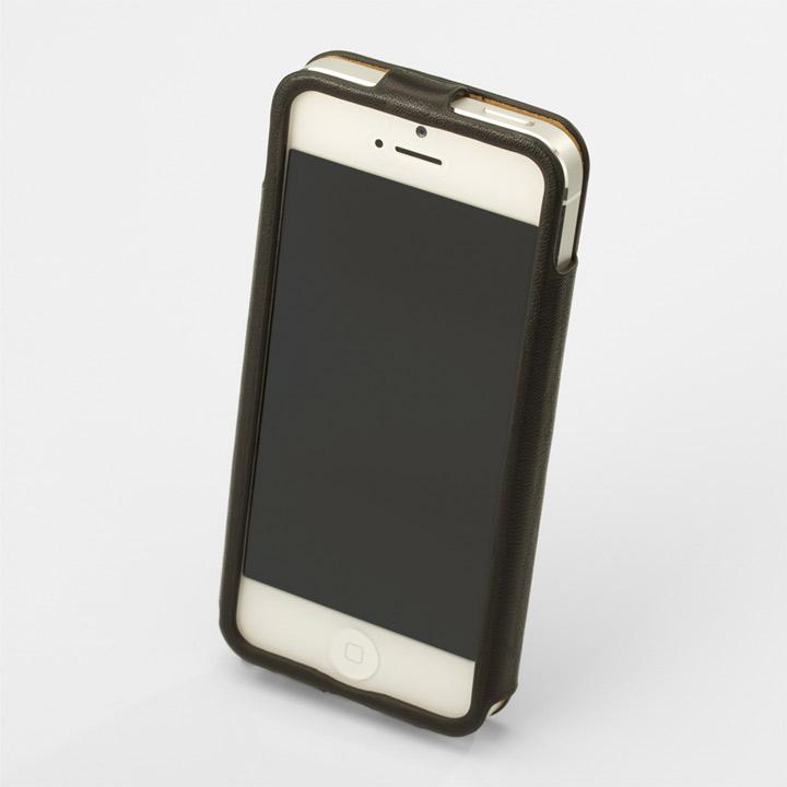 iPhone SE/5s/5 ケース 【iPhone SE/5s/5】GRAMAS レザーケース 422シリーズ(ブラック)_0