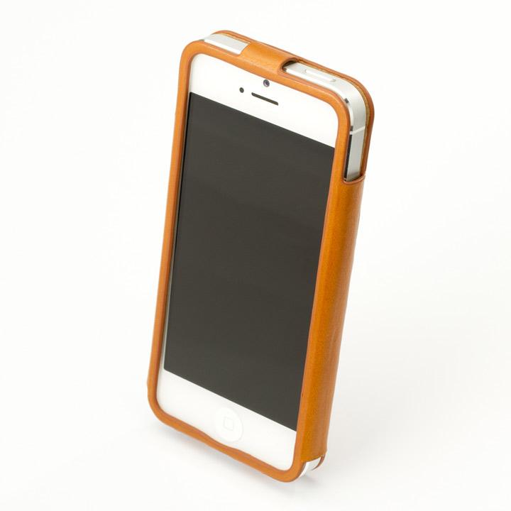iPhone SE/5s/5 ケース 【iPhone SE/5s/5】GRAMAS レザーケース 422シリーズ(タン)_0