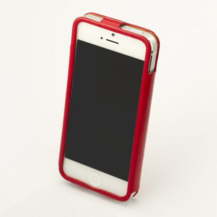 【iPhone SE/5s/5】GRAMAS レザーケース 422シリーズ(レッド)