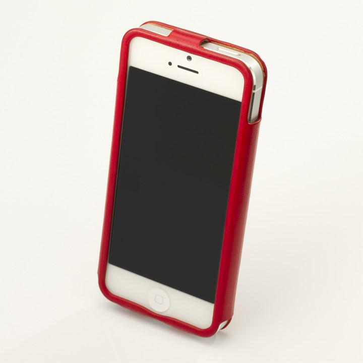 iPhone SE/5s/5 ケース 【iPhone SE/5s/5】GRAMAS レザーケース 422シリーズ(レッド)_0