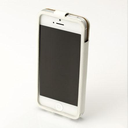 【iPhone SE/5s/5】GRAMAS レザーケース 422シリーズ(ホワイト)
