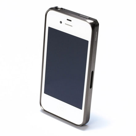 【iPhone4/4s】GRAMAS メタルバンパー 01シリーズ(グレイ)