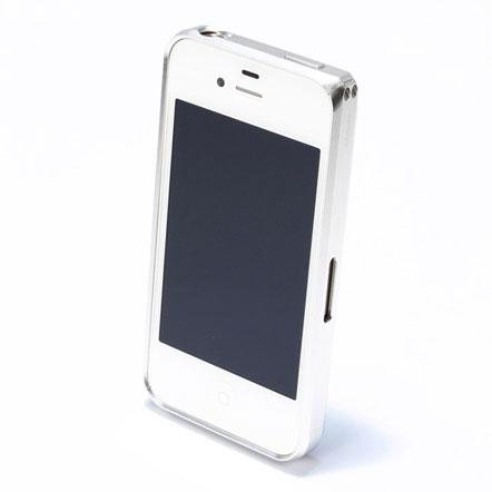 【iPhone4/4s】GRAMAS メタルバンパー 01シリーズ(シルバー)