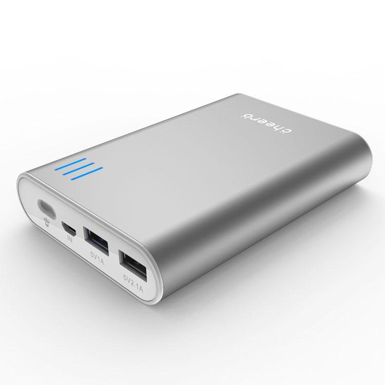 cheero Power Plus 2 モバイルバッテリー 10400mAh (シルバー)