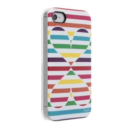 Pop Heart ストライプ iPhone 4s/4 ケース