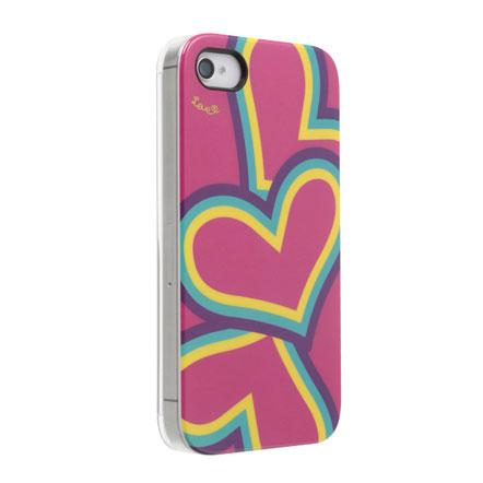 Pop Heart ピンク iPhone 4s/4 ケース