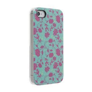 Petit Flower グリーン iPhone 4s/4 ケース