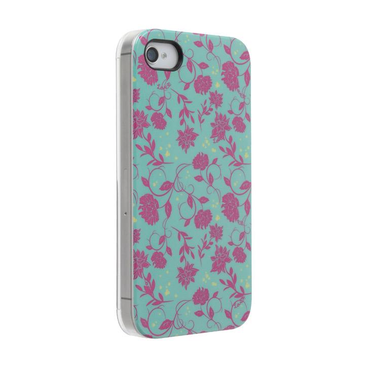 Petit Flower グリーン iPhone 4s/4 ケース_0