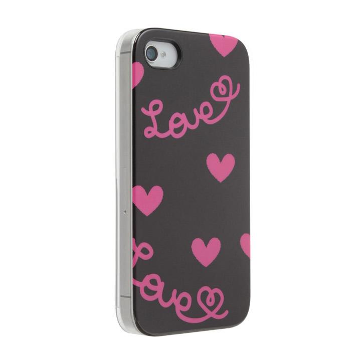 Pop Heart ブラック iPhone 4s/4 ケース_0