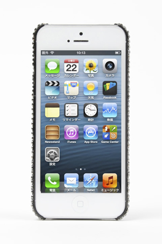 【iPhone SE/5s/5ケース】iPhone5 Sparking Black&Silber iPhone5_1