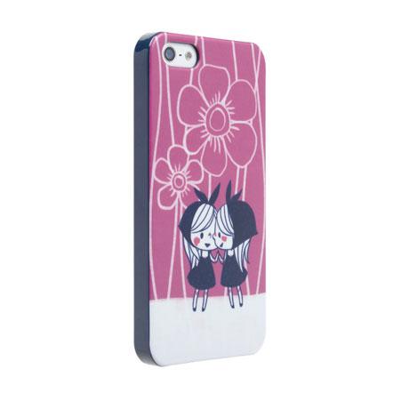 【iPhone SE/5s/5】カナヘイ コラボケース 「花咲少女」