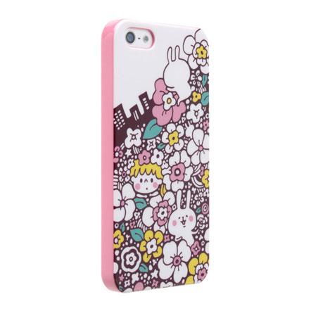 【iPhone SE/5s/5】カナヘイ コラボケース  「フラワーシティ」