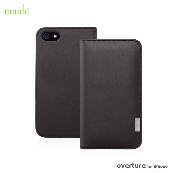 moshi Overture  iPhone 5 手帳型ケース Metallic Black
