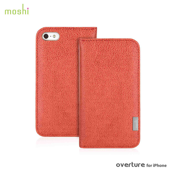 iPhone SE/5s/5 ケース moshi Overture  iPhone 5 手帳型ケース Sienna Orange_0