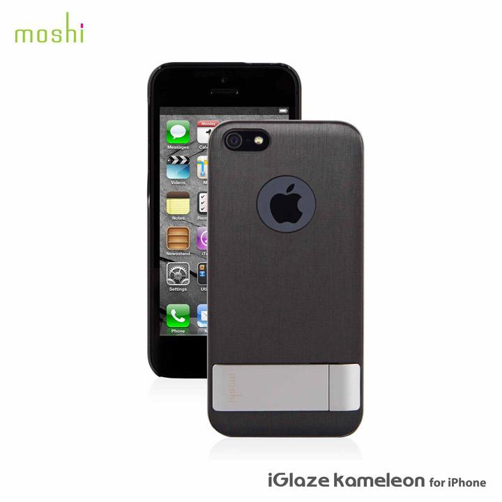 iPhone SE/5s/5 ケース moshi iGlaze Kameleon  iPhone 5【Black】_0